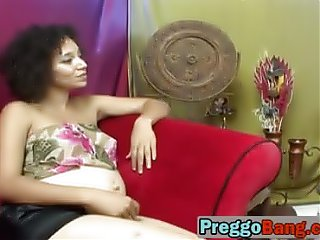Pregnant lesbians having fun with toys