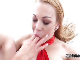 Spicy lezzie lookers are fisting wet snatches an