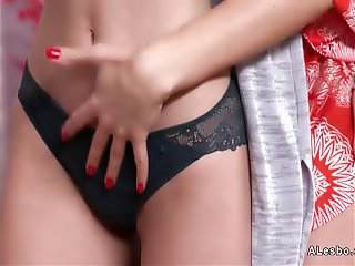 Babes in lingerie stripping and licking