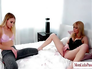 Riley and MILF Serene in hot lesbian sex and masturbation
