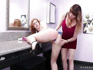 Step mom spanks teen in bathroom