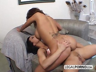 Two lesbians with big tits having fun BP-3-02