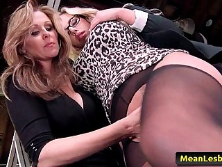 Hot Mean Lesbians - Disciplinary Action Part One with Julia Ann & Olivia Austin 01